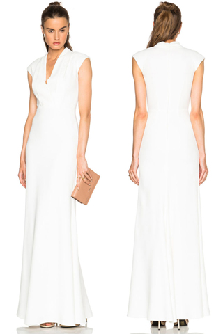 Vestido feito sob medida para Pippa e o modelo McQueem a venda na Foward