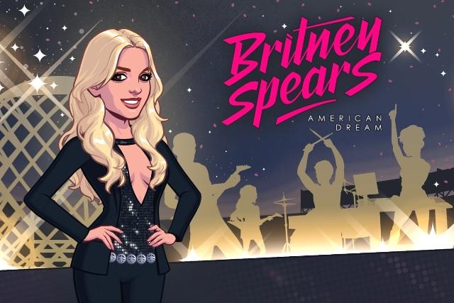 A capa do jogo mobile de Britney Spears