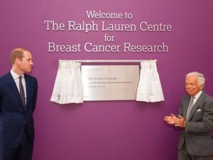 Príncipe William inaugura Centro Ralph Lauren de Pesquisa do Câncer de Mama