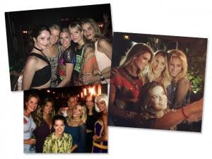 Helena Bordon se joga na noite em St Barth com os amigos