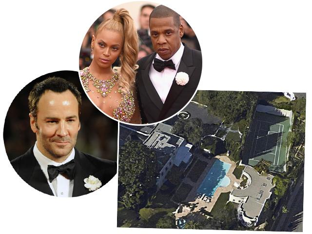 O casal Beyoncé e Jay-Z e o estilista Tom Ford disputaram a compra da mesma mansão em Beverly Hills  || Créditos: Getty Images