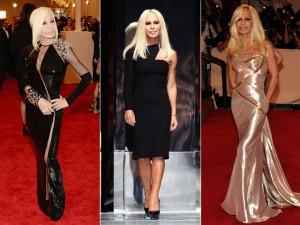 O estilo bombshell de Donatella Versace no dia de seu aniversário