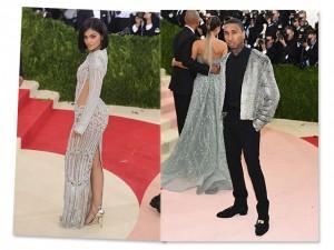 Kylie Jenner e Tyga separados e no mesmo evento