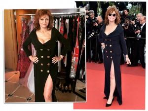 Aos 69 anos, Susan Sarandon para tudo com corpinho enxuto em Cannes