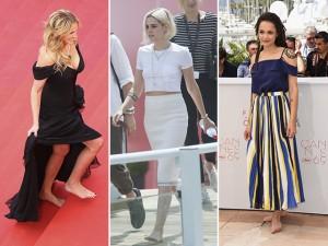 Atrizes descalças em Cannes por motivo que vai além do estilo. Qual?