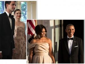 Miranda Kerr usa vestido floral e rouba a cena em jantar na Casa Branca