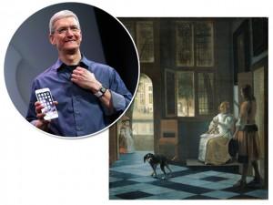 """Em visita ao Rijksmuseum, Tim Cook """"encontra"""" iPhone em pintura de 1670"""
