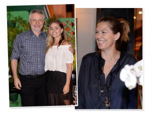 Patricia Pillar em evento de filha de Carlos Henrique Schroder
