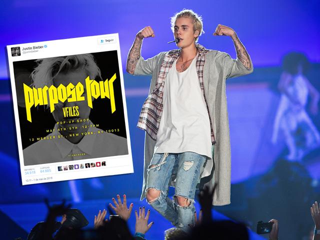 "A nova loja terá a turnê ""Purpose Tour"" como tema"