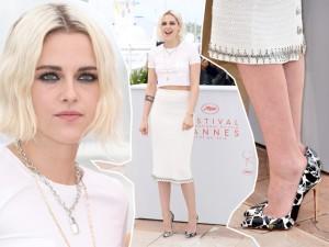 Kristen Stewart surge platinada e sexy e rouba a cena na abertura de Cannes