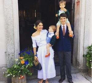 Margherita Missoni e Eugenio Amos batizam segundo filho