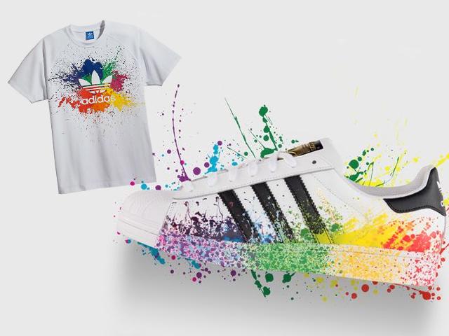 2515caac4fd Alguns dos produtos Adidas especiais para a Parada Gay que chegaram ao  Brasil