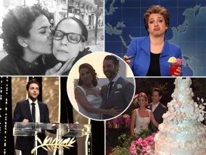 De casamentos a Palma de Ouro, os top 5 do fim de semana