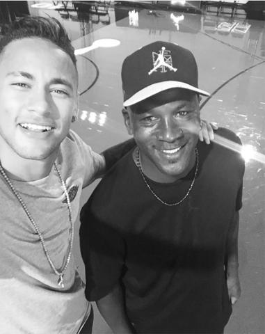 Neymar e Michael      Reprodução Instagran