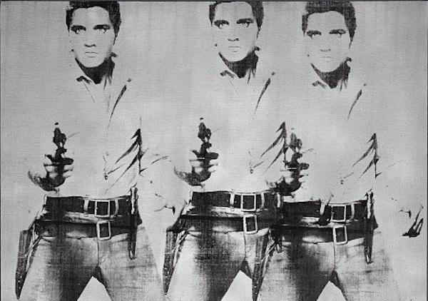 Triple Elvis, obra de ANdy Whorl semelhante a exposta no SFMOMA || Créditos: Divulgação