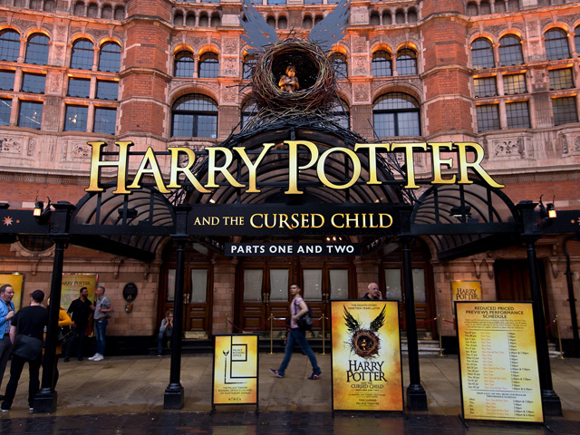 Fachada do teatro Palace, no West End, em Londres