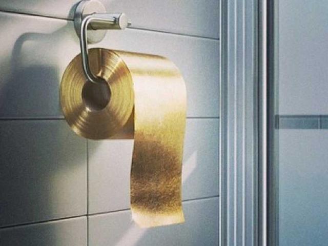 Papel higiênico de ouro em Hong Kong