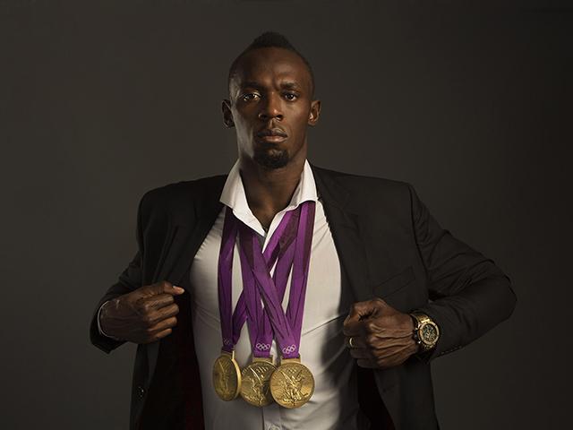 Usain Bolt para Hublot      Créditos: Divulgação