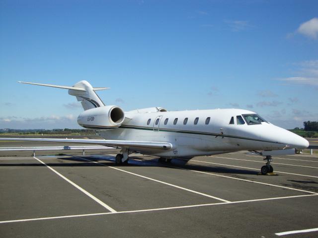 Aeronave Cessna 750 Citation X foi apreendida no Aeroporto Internacional de Viracopos em 2012