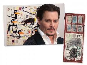 Em meio a separação, Johnny Depp põe à venda coleção de Basquiat