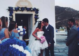 Domenico Dolce marca presença em casamento de brasileiros na Grécia