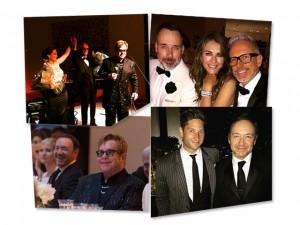 Elton John arrecada mais de R$ 1 milhão em jantar beneficente repleto de estrelas