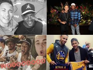 """Férias de Neymar nos EUA tiveram um """"conector de celebridades"""". Oi?"""
