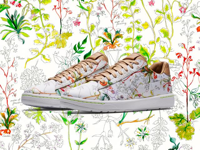 Desejo do Dia  o floral dos jardins ingleses no tênis Nike com a ... 09713e8237ee0