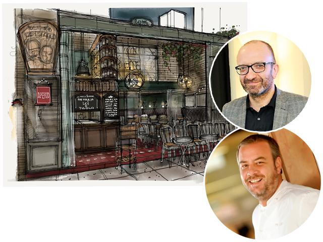 Paulo Barros e Salvatore Loi se preparam para abrir o Modern Mamma Osteria, no Itaim!
