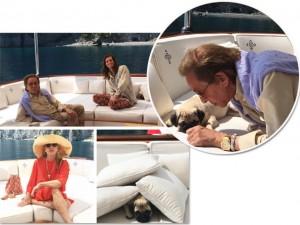 Valentino dá start às suas famosas férias de iate pelo Mediterrâneo