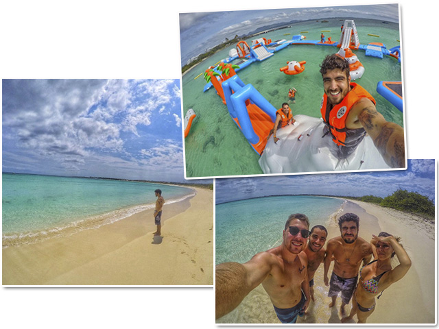 Caio Castro curtindo a ilha em Abril || Créditos: Divulgação