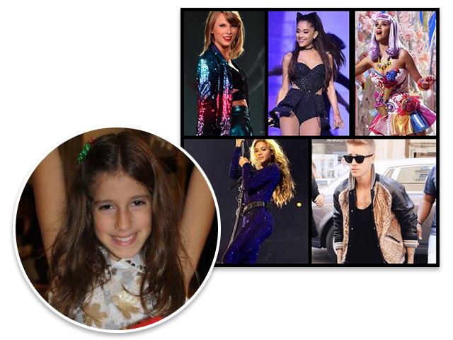 O moodboard de inspirações: Clara será Taylor Swift, Maria vai de Ariana Grande, a pequena Helena escolheu Katy Perry, Vera se transformará em Beyoncé e Rodrigo de Justin Bieber!  ||  Crédito: Divulgação / Acervo Pessoal