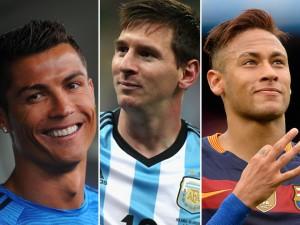Cristiano Ronaldo, Messi e Neymar estão entre os atletas mais bem pagos