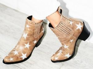 Desejo do Dia: pés estrelados com a ankle boot cowboy