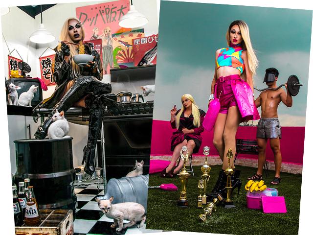"""Bianca Della Fancy e Shady Jordan, duas das seis escolhidas para a expo """"Pink Bananas""""    Créditos: Divulgação"""