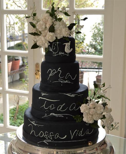 Detalhe que faz a diferença: o bolo de casamento de Isabella