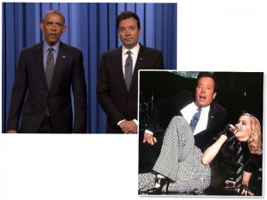 "Madonna canta ""Borderline"" e Obama faz duo com Jimmy Fallon em programa"
