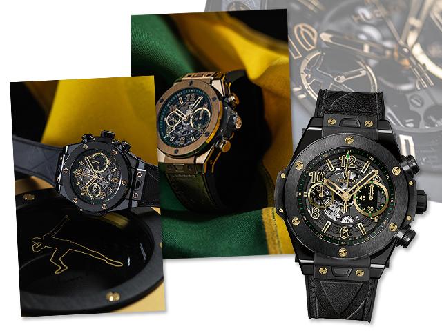 Modelos Big Bang Ouro e All Black inspirados em Usain Bolt     Créditos: Divulgação
