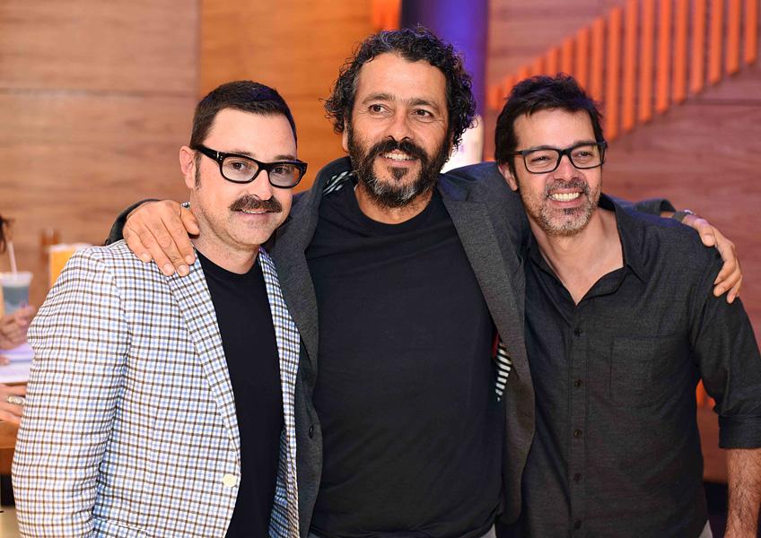 Emilio Orciollo Netto, Marcos Palmeira e Bruno Mazzeo || Crédito:  Ari Kaye