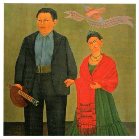 A roupa de casamento de Frida Kahlo com Diego Rivera