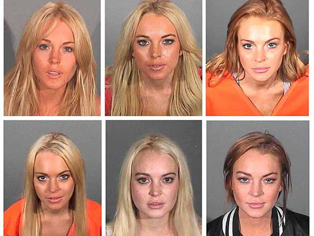 """As """"fotos de prisão"""" de Lindsay Lohan"""