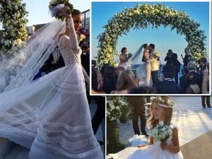 Casamento de Ana Beatriz Barros segue com igreja e lançamento de buquê