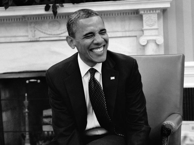 Barack Obama retratado por Marc Baptiste  ||  Crédito: Divulgação