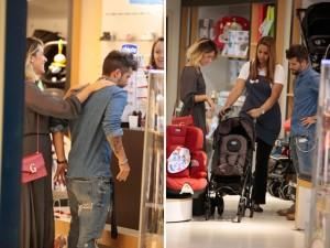 Giovanna Ewbank e Gagliasso comprando o enxoval da filha Titi