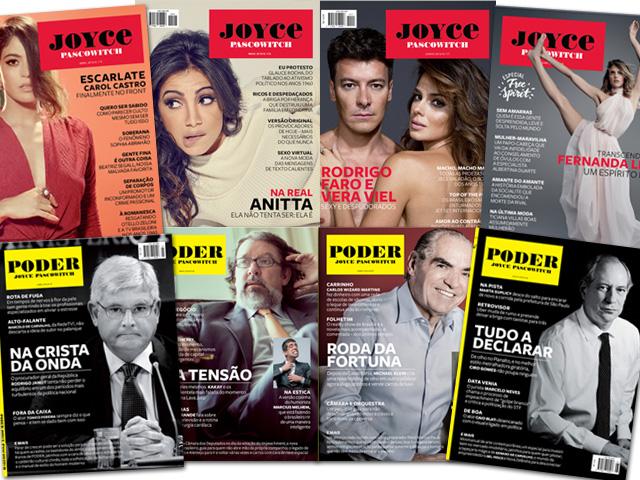 Edições anteriores da revista J.P e PODER agora à venda no Facebook || Créditos: Reprodução