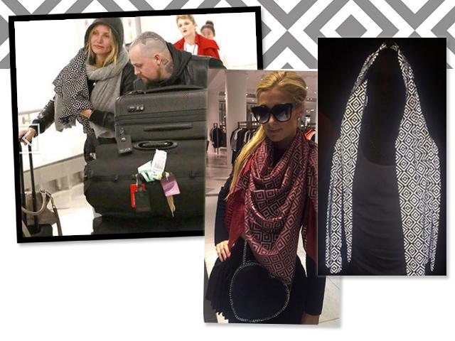 Celebs usando a scarf no site da marca