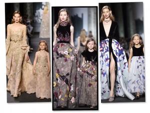 Tal mãe, tal filha: Elie Saab desfila alta-costura para crianças em Paris
