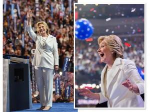 Uso de calças por Hillary em campanha é visto como código de autoridade
