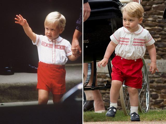 Príncipe William em 1984 e Príncipe George em 2015 || Créditos: ANWAR HUSSEIN Divulgação / Getty Images