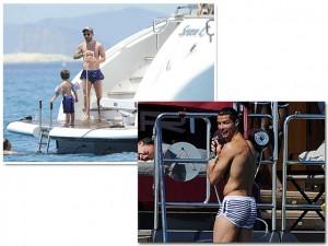 Messi e Cristiano Ronaldo disputam gols e também o poderio de seus iates